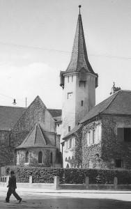Historische Ansicht der Hermannstädter Johanniskirche